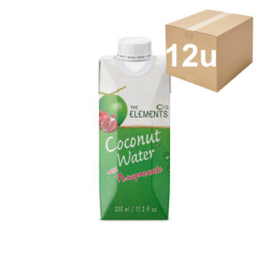 agua de coco granada the elements 330ml 12u
